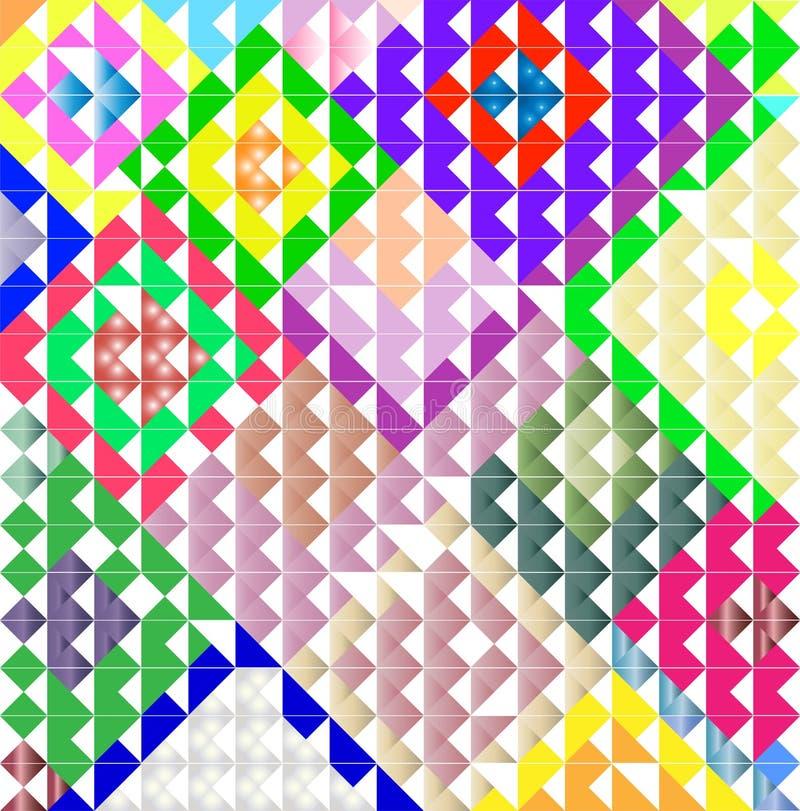 补缀品背景样式 装饰几何模式 皇族释放例证