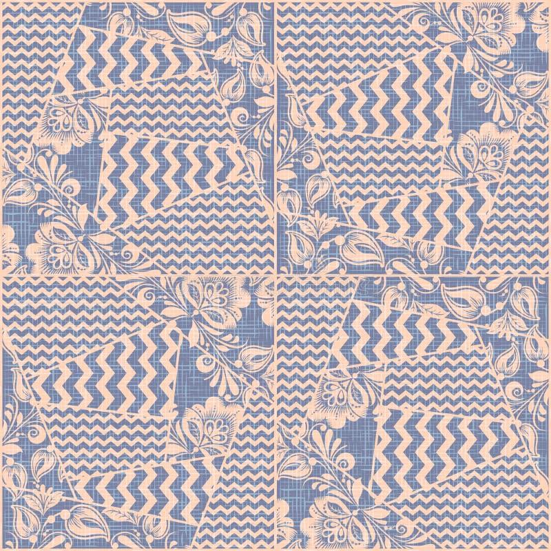 补缀品织品纺织品无缝的样式传染媒介 库存例证
