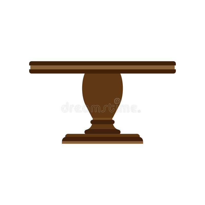 表侧视图传染媒介象家具隔绝了内部 木企业空的元素的书桌做广告 动画片装饰室 库存例证