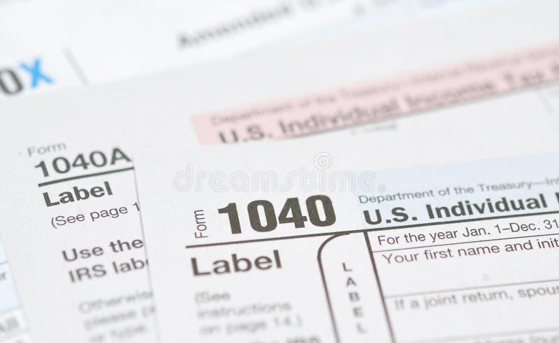 表单税务 库存照片
