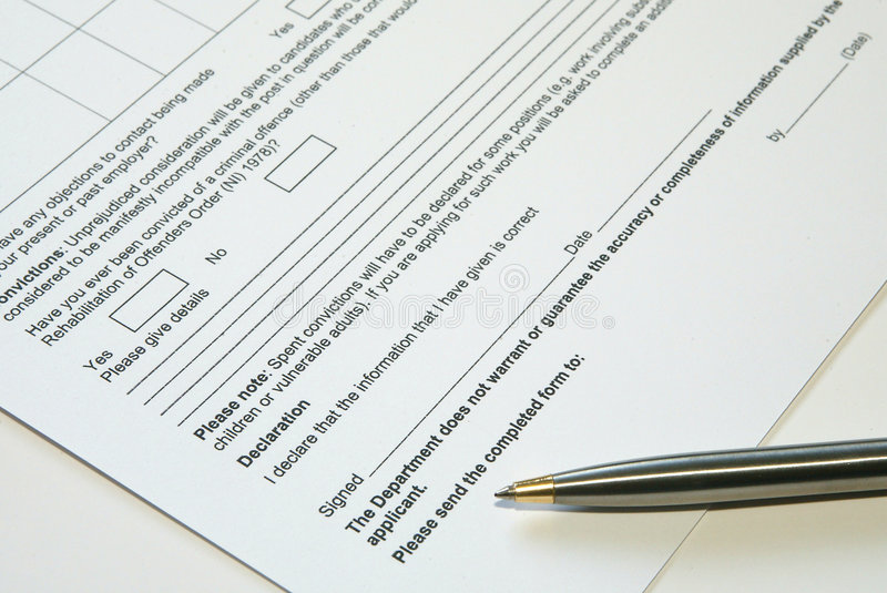 表单 免版税库存照片