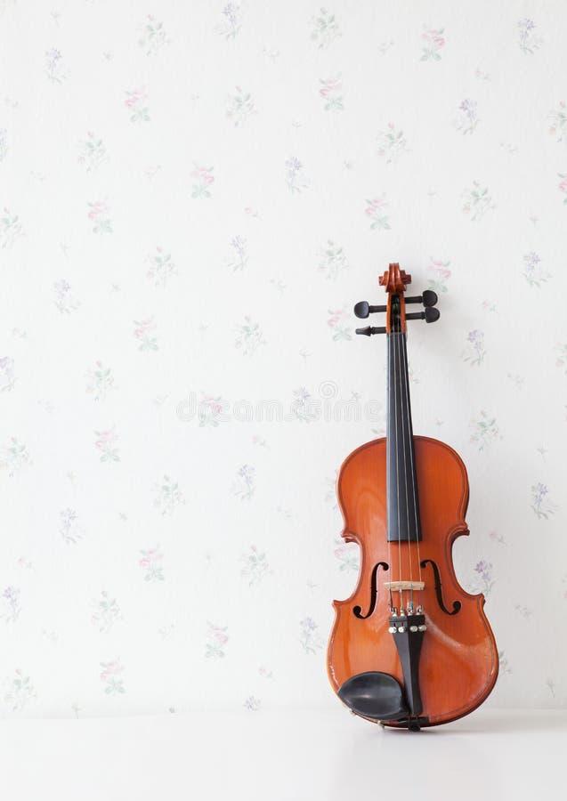 表小提琴白色 免版税图库摄影
