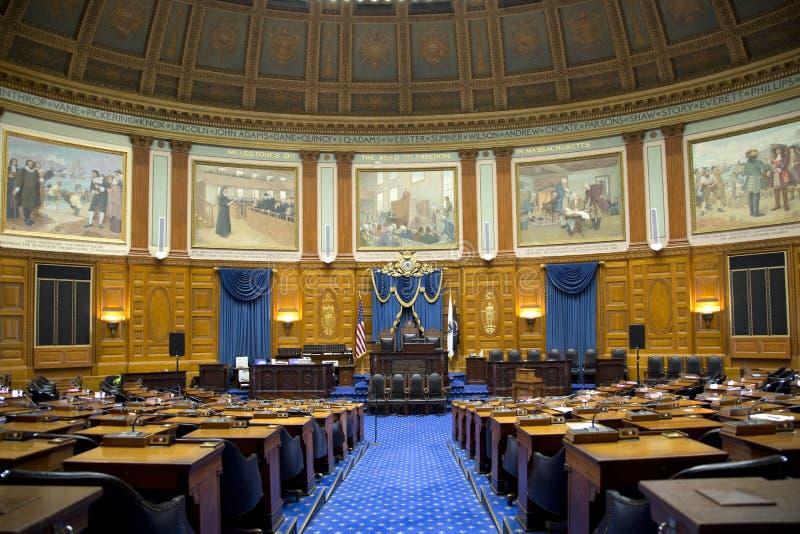 代表性会议室内部在许多状态议院里 免版税库存照片