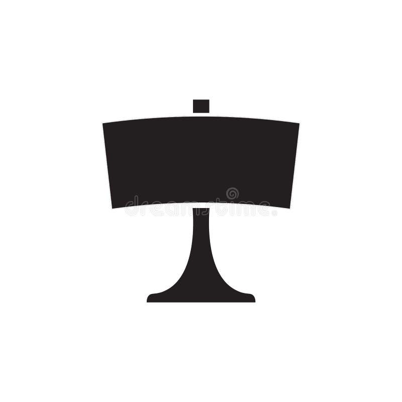 表或桌面灯卧室的,办公室,客厅被隔绝的平的传染媒介象 库存例证