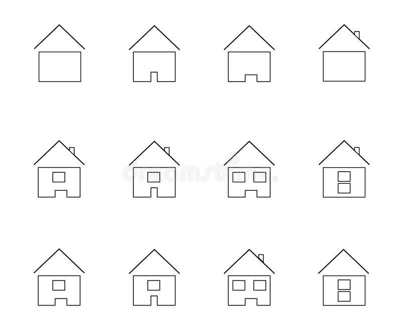代表房子的象 库存例证