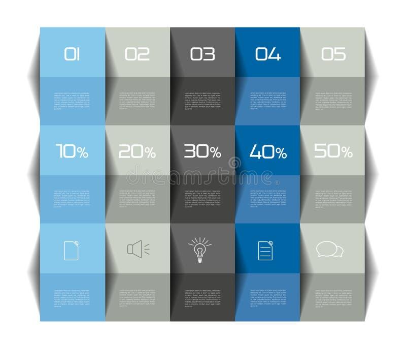 表模板 日程表桌 3d表 企业桌 小册子桌,日程表 Minimalistic桌 库存例证