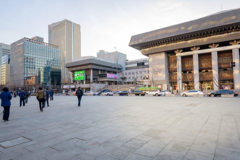 表演艺术的汉城世宗文化会馆 表演艺术的世宗文化会馆是最大的艺术和文化复合体在汉城 库存图片