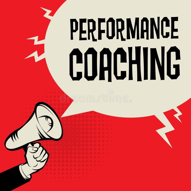 表现教练的企业概念 向量例证
