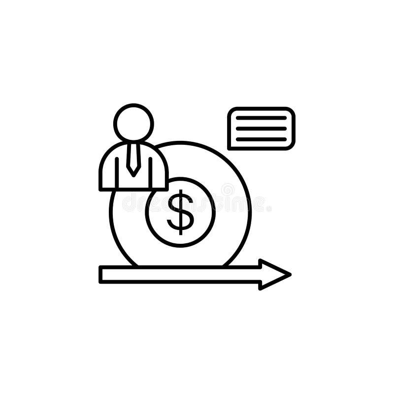 表现美元管理象 企业刺激线象的元素 库存例证