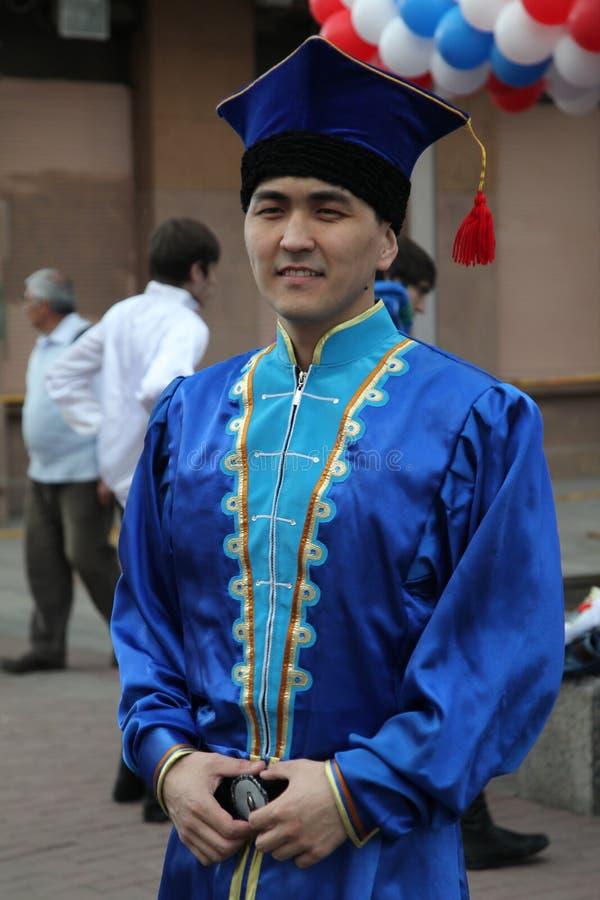 表现音乐家和舞蹈家巴什基尔人全国合奏Yandek (巴什科尔托斯坦共和国) 免版税库存图片