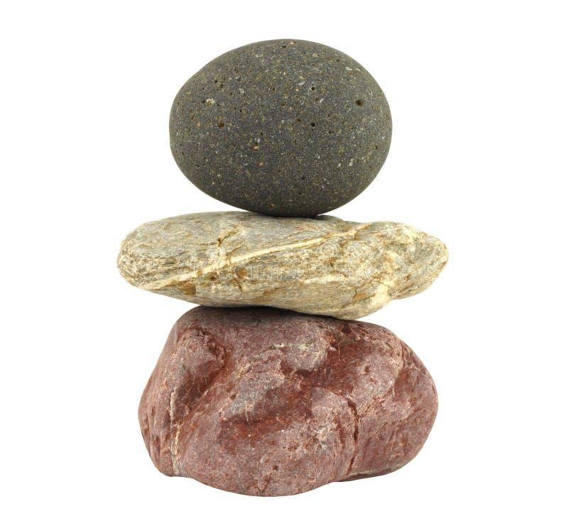 表示石头的平衡凝思堆 库存照片