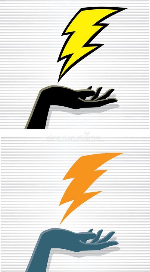 Download 闪电手 向量例证. 插画 包括有 陈列, 现有量, 物理, 闪电, 妇女, 概念, 次幂, 摧毁, 女性 - 30327233