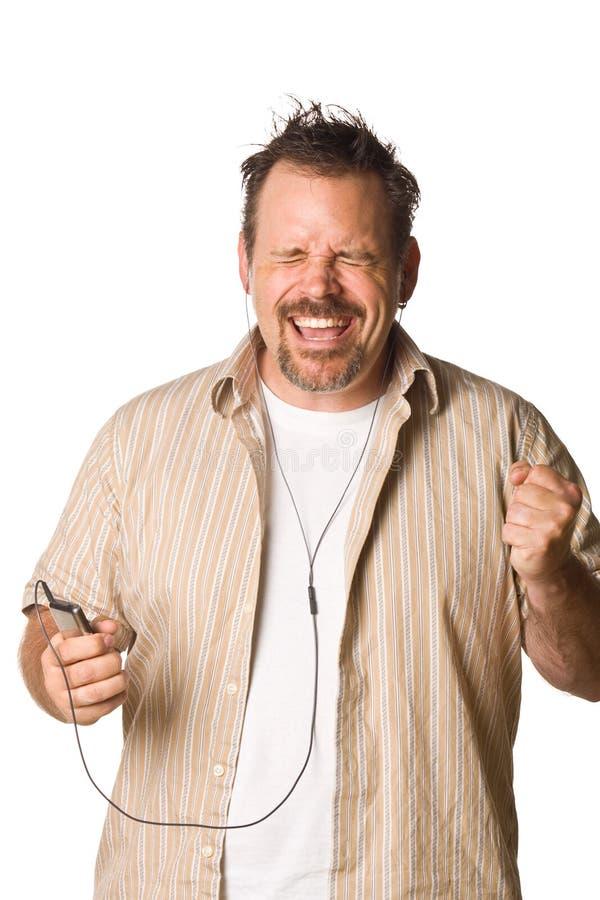 表达式听的人音乐 免版税库存照片