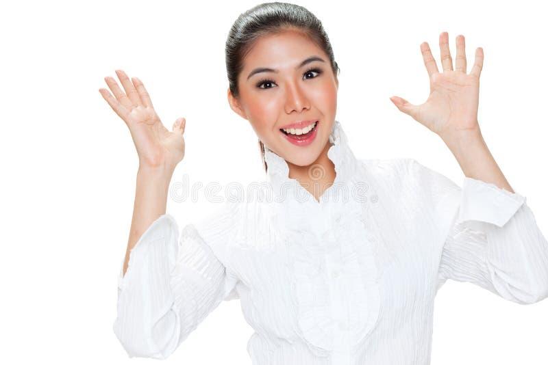 表达式表面妇女年轻人 免版税图库摄影