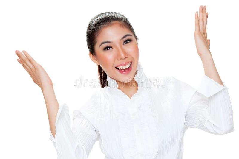 表达式表面妇女年轻人 免版税库存图片