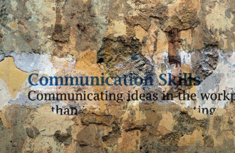 表达能力在墙壁上发短信 免版税库存图片
