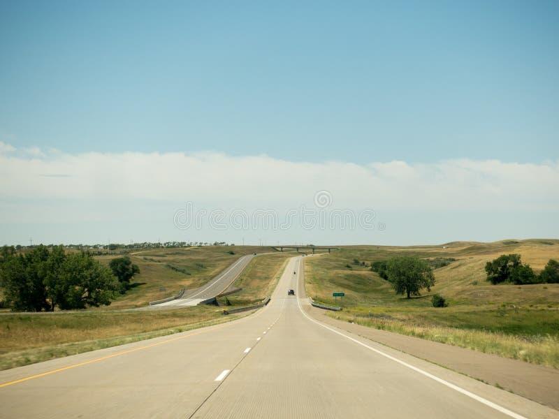 表面上不尽的高速公路 库存照片