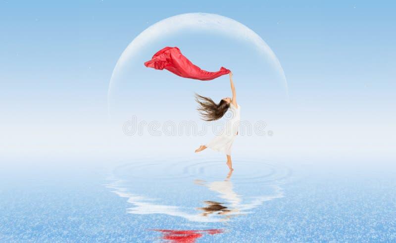 水表面上的舞女 库存照片