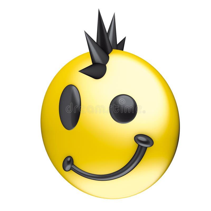 表面低劣的微笑 向量例证