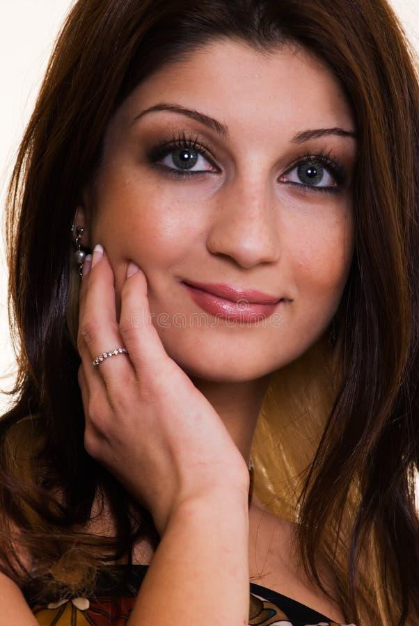 表面俏丽的妇女 免版税图库摄影