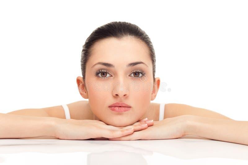 表面健康s皮肤妇女 免版税库存图片