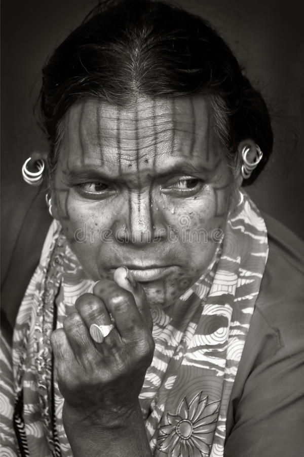 表面印地安人部落 库存图片