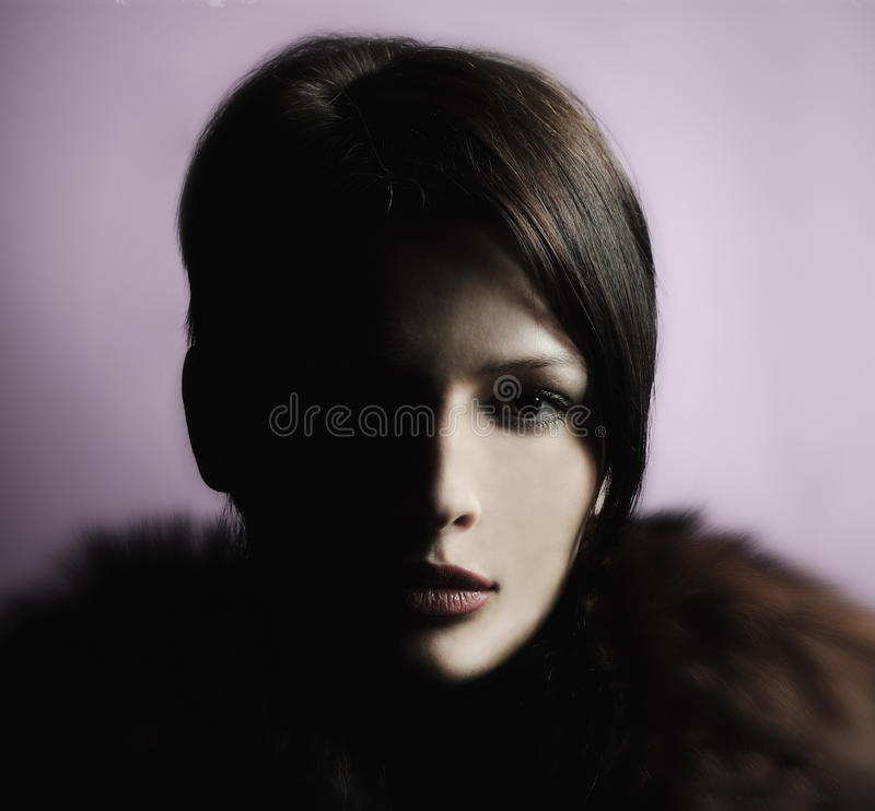 Download 表面女孩半portrain影子 库存照片. 图片 包括有 查找, 人力, 女性, 成人, 设计, beautifuler - 22356112