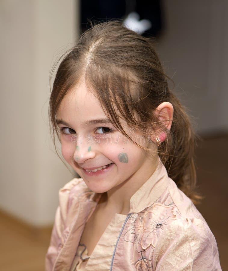 表面女孩年轻人 免版税图库摄影