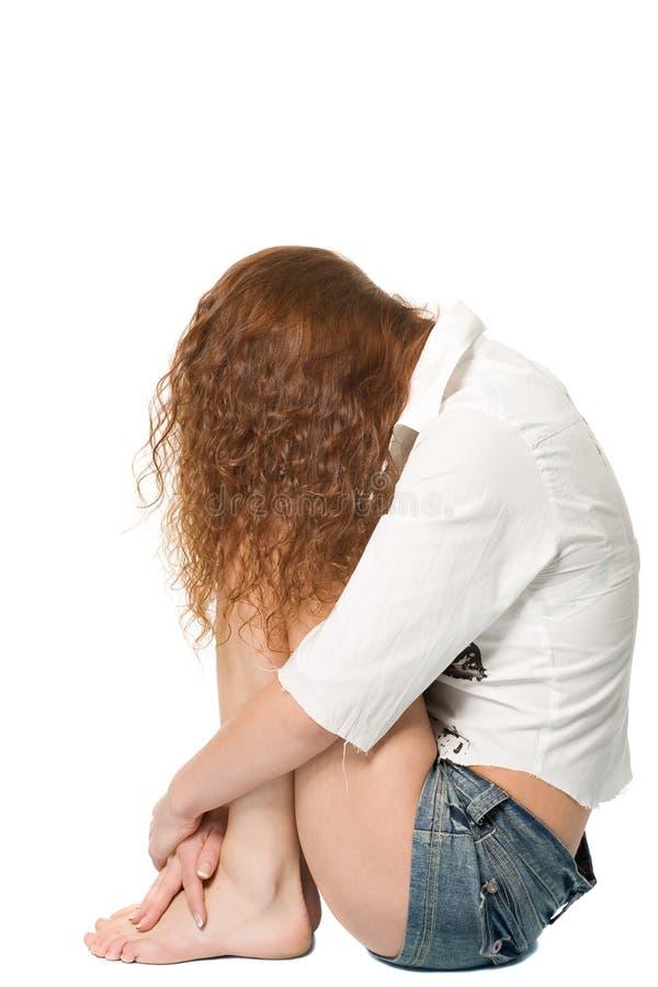 表面女孩隐藏的开会 免版税库存图片
