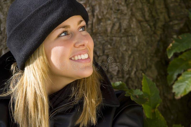 表面愉快微笑 免版税库存照片