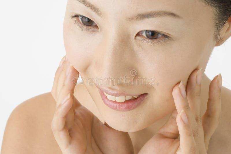 表面日本人妇女 免版税库存图片