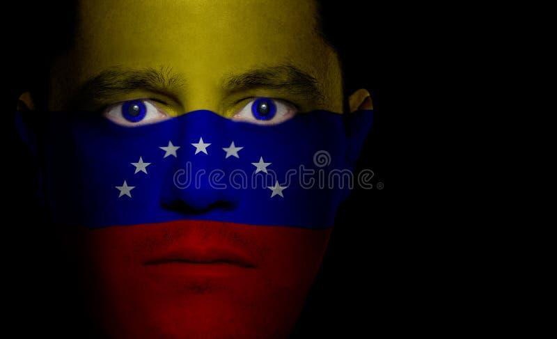 表面标志男性委内瑞拉人 库存图片