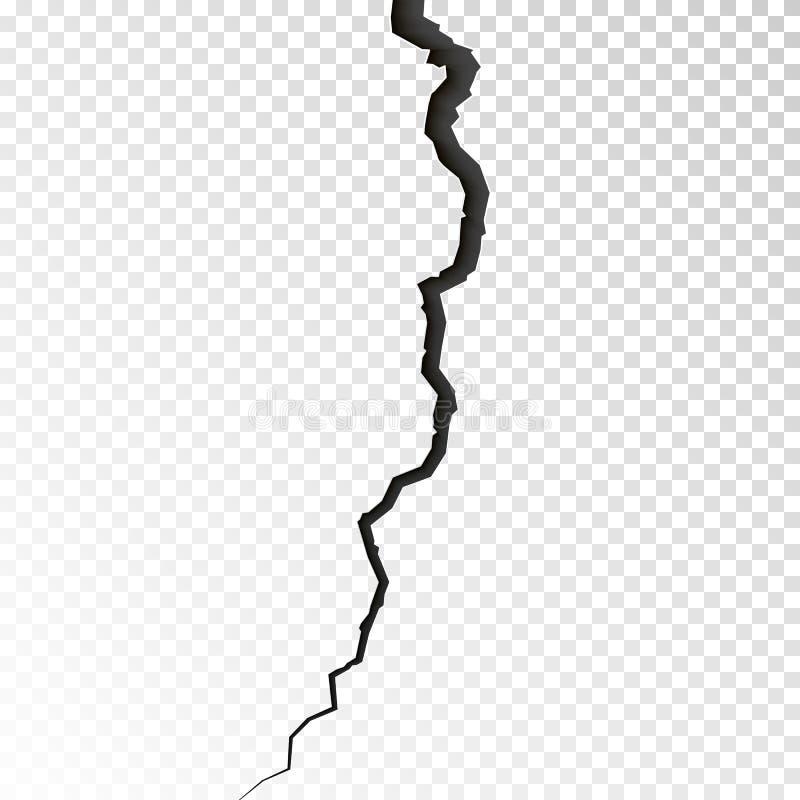 表面破裂的地面 剪影高明的纹理 在地震以后的分裂地形 在透明backgrou的传染媒介例证 皇族释放例证