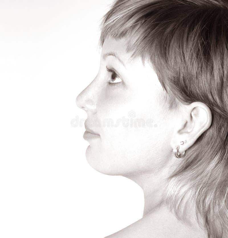 表面s妇女 免版税库存照片