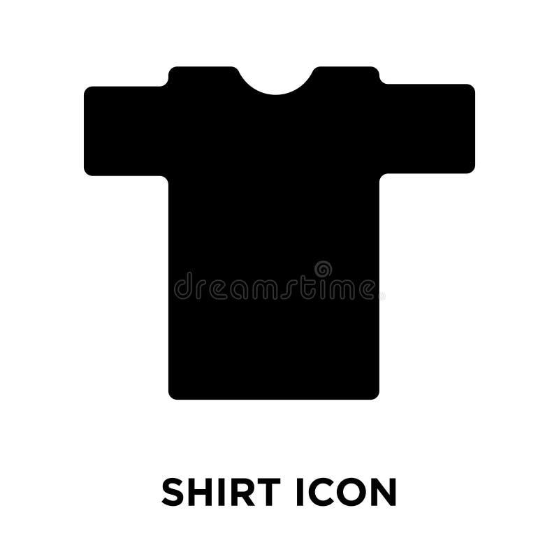 衬衣在白色背景隔绝的象传染媒介,商标概念  皇族释放例证