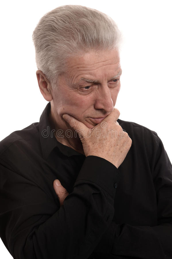 衬衣的更老的人 免版税库存图片