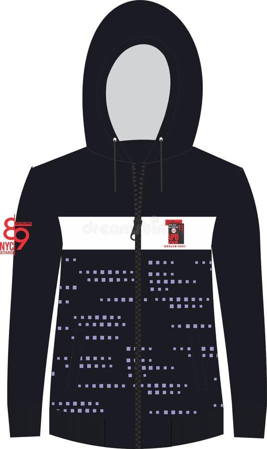 衬衣羊毛织品到处图表和胸口 向量例证