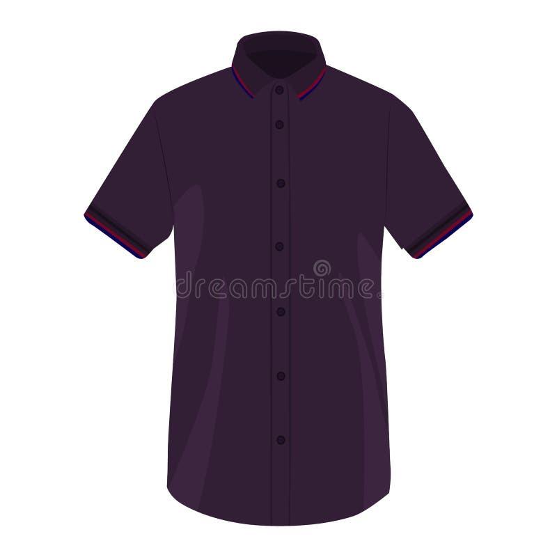 衬衣袖子衬衣在白色背景的传染媒介象 马球在白色隔绝的T恤杉例证 现实男性的穿戴 向量例证