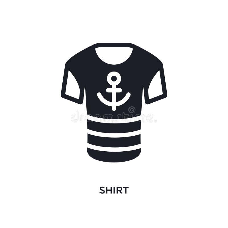 衬衣被隔绝的象 从船舶概念象的简单的元素例证 在白色的衬衣编辑可能的商标标志标志设计 库存例证