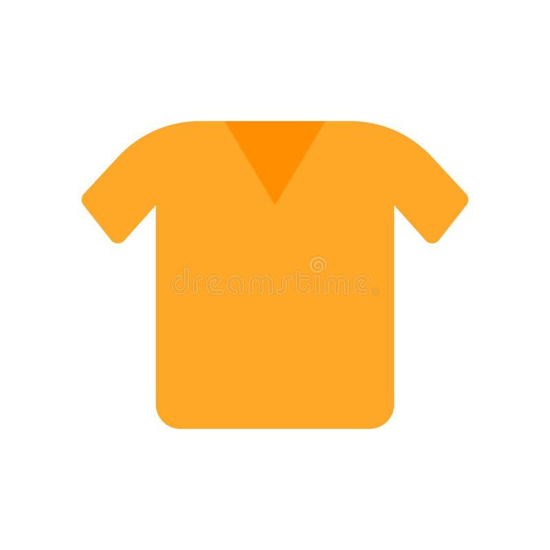 衬衣象在白色背景和标志隔绝的传染媒介标志,衬衣商标概念 皇族释放例证