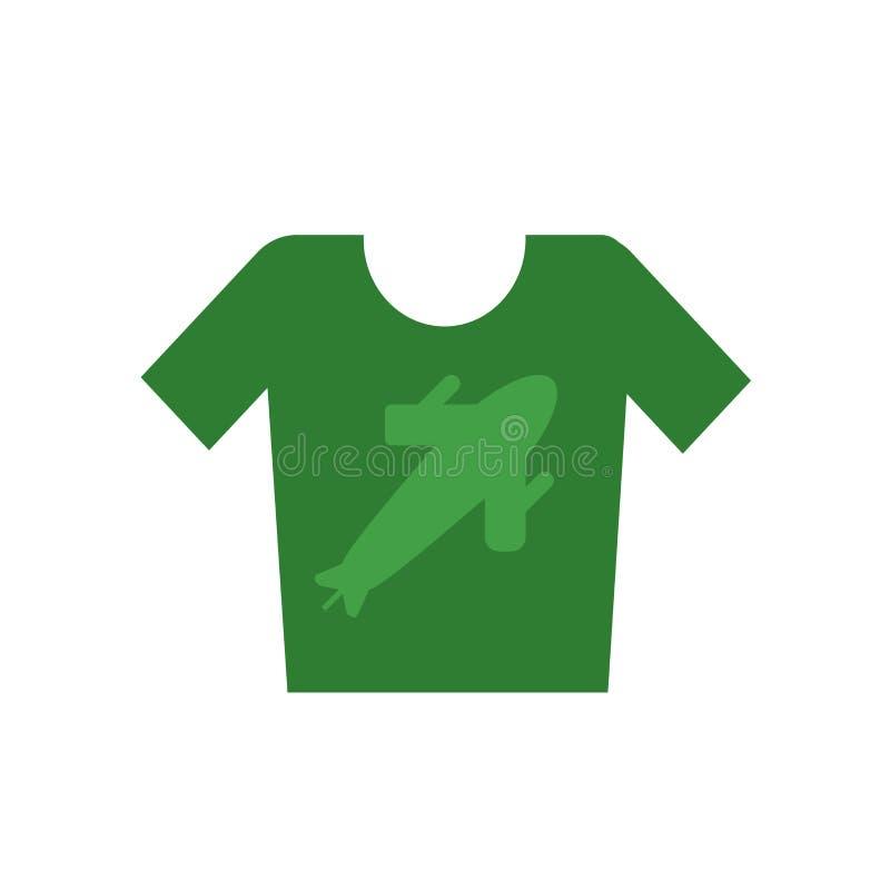 衬衣象在白色背景和标志隔绝的传染媒介标志,衬衣商标概念 库存例证