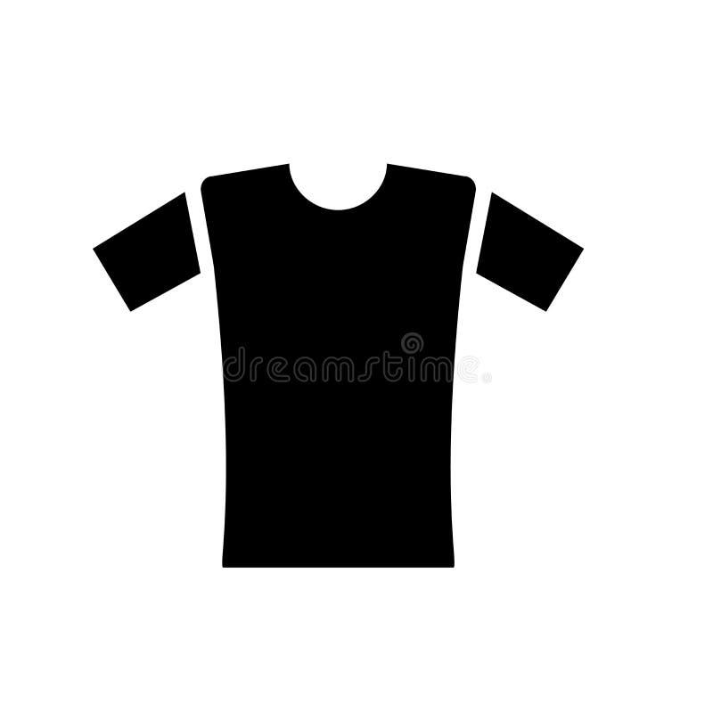 衬衣象在白色背景和标志隔绝的传染媒介标志,衬衣商标概念 向量例证