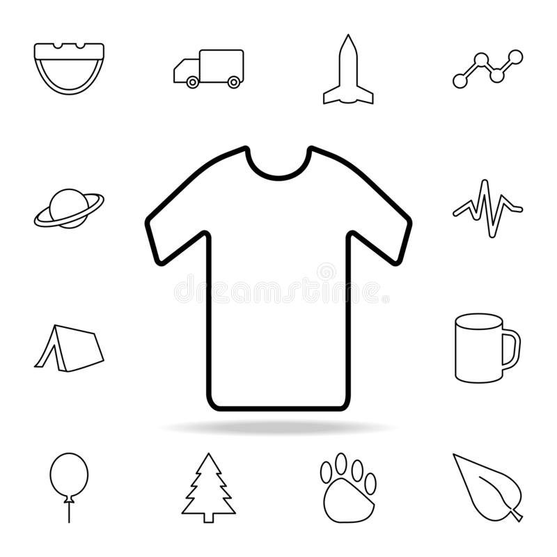 衬衣象 详细的套简单的象 优质图形设计 其中一个网站的汇集象,网络设计,流动app 库存例证