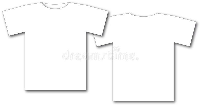 衬衣t二白色 皇族释放例证