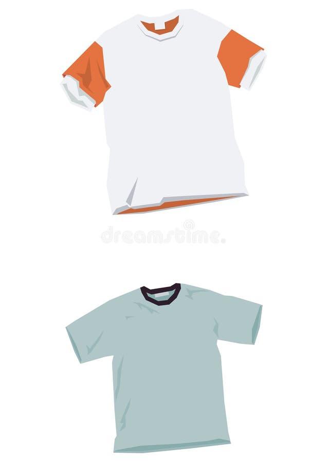 衬衣t模板 库存例证