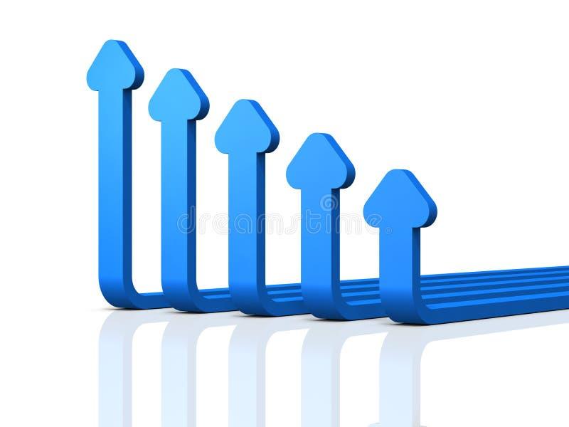 衰减的抽象3DCG例证 弯曲的五 向量例证