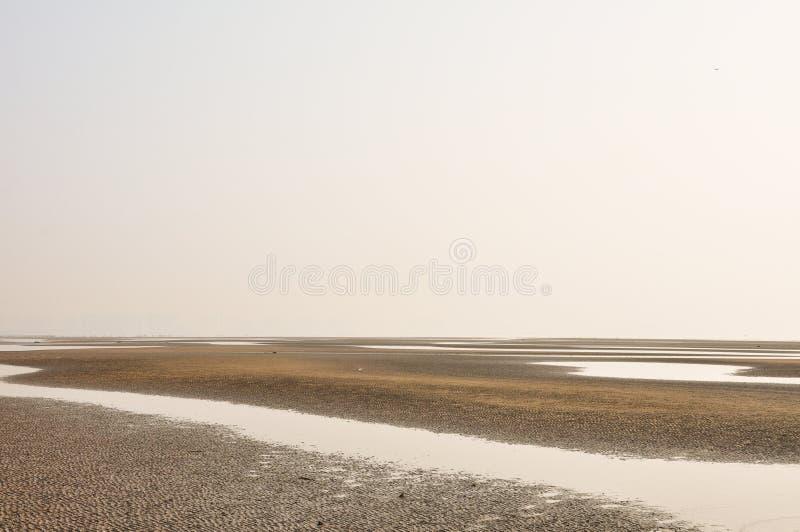衰退海滩 图库摄影