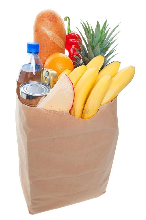 袋子充分的副食品 免版税图库摄影
