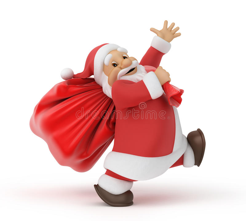 袋子克劳斯礼品圣诞老人 向量例证