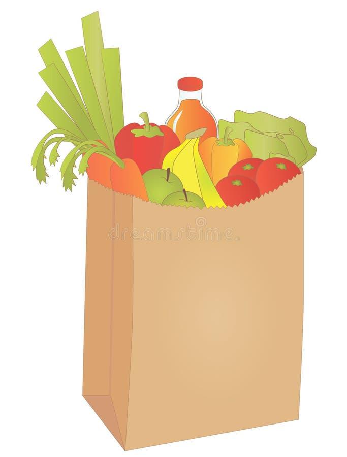 袋子副食品 向量例证